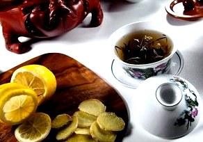 Щербет из чая «Эрл Грей» с лимоном